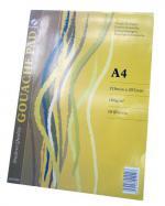 блок листа за рисуване за темпера(гваш) A4,  160g/m2 18л.